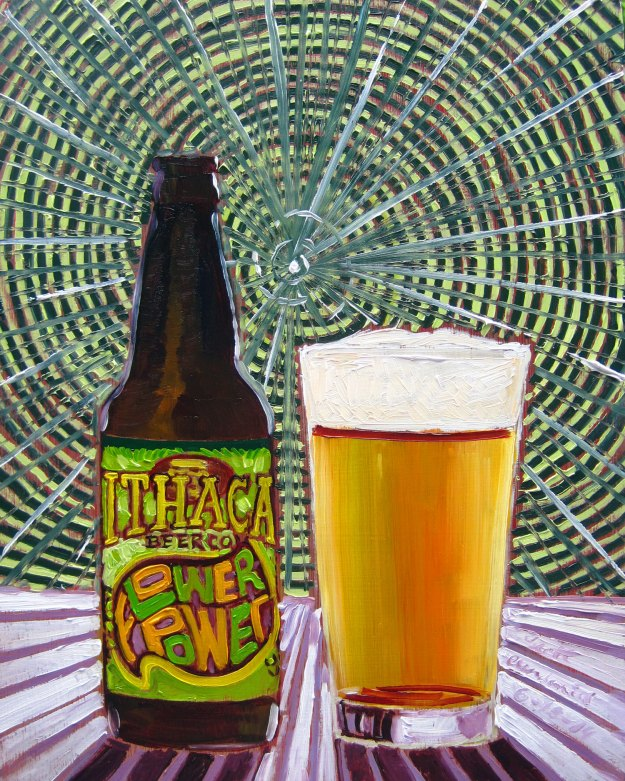 Beer Painting of Flower Power IPA by Ithaca Beer Co Year of Beer Paintings