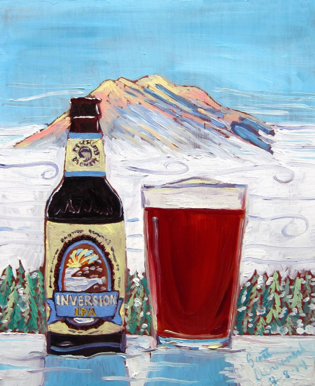 Beer Painting of Inversion IPA by Deschutes Brewing Year of Beer Paintings