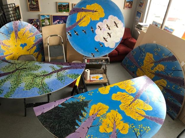 Alaskan artist public art Scott Clendaniel studio
