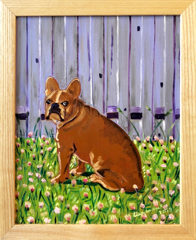 custom dog portrait oil painting