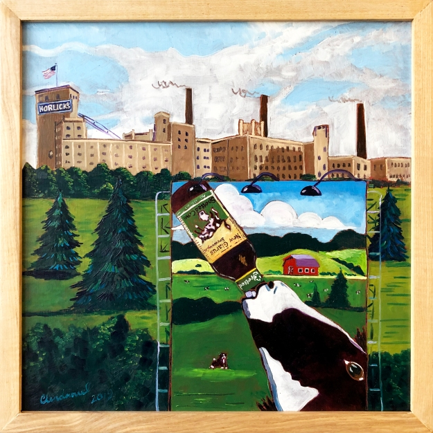 Spotted Cow custom beer painting
